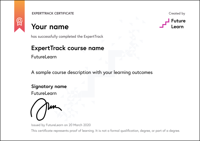 ExpertTracks certificate